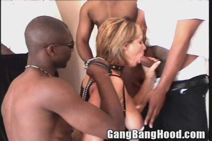 Girl Interracial gang bang videos